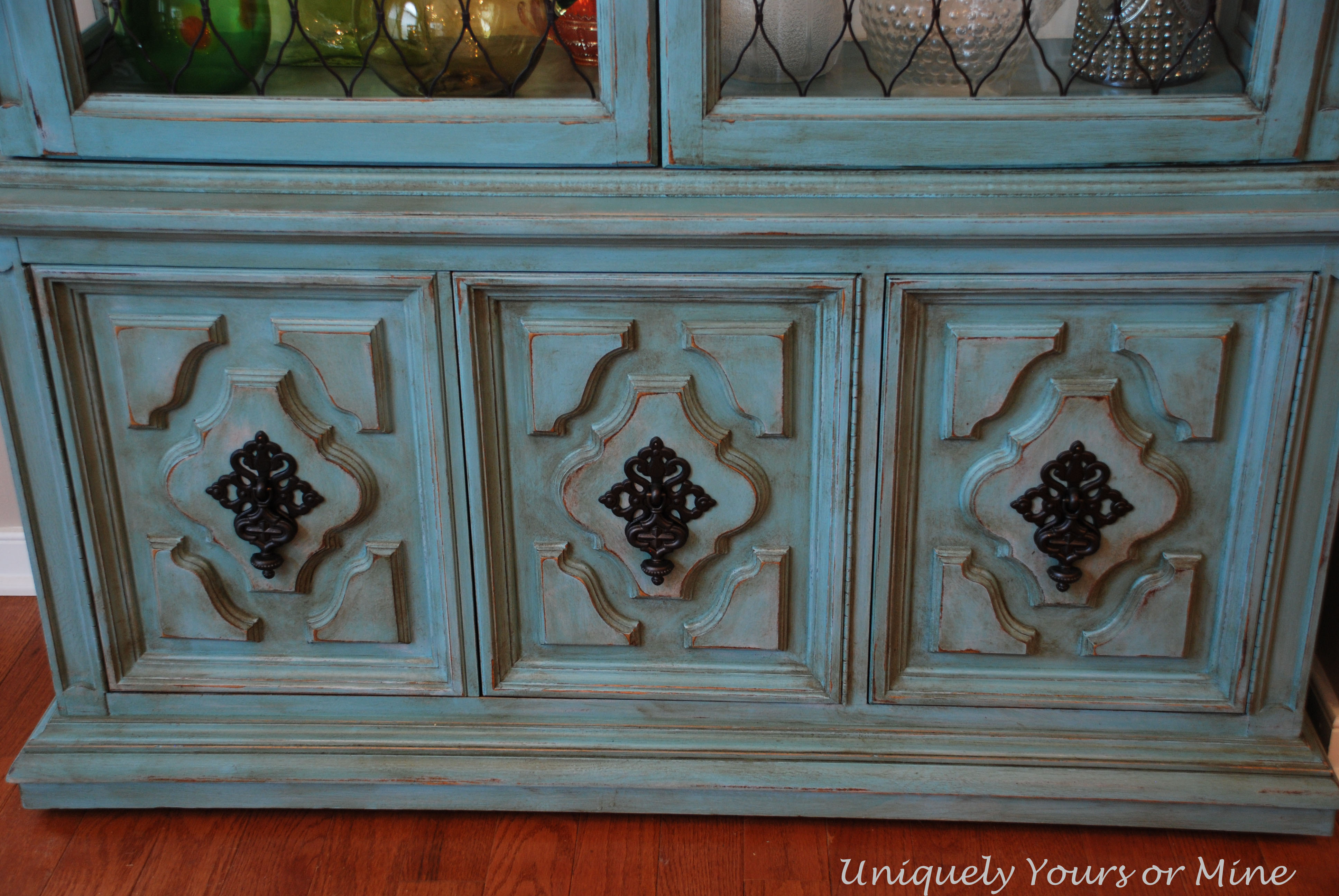 painted china cabinet | uniquely yours or mine!