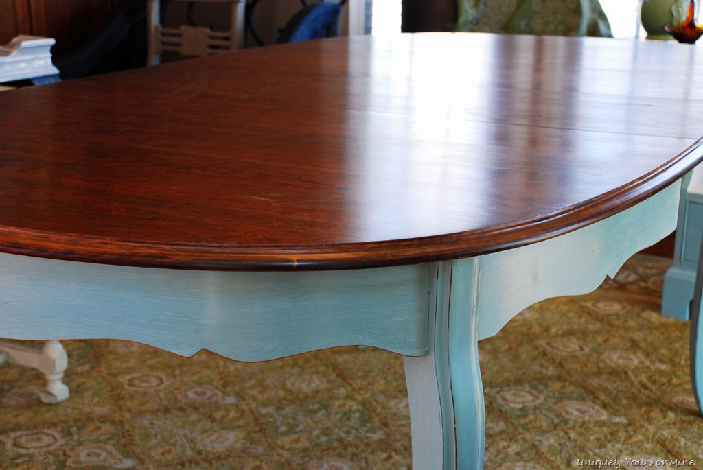 Sweet French Provençal Dining Table Uniquely Yours Or Mine - Walnut color dining table