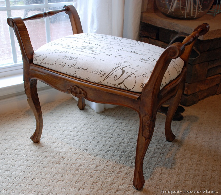 French Cane Bench Uniquely Yours Or Mine