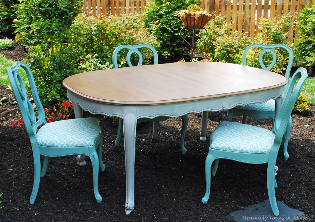 Painted dining table for Painted dining table