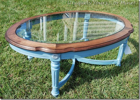 F Oval Coffee Table