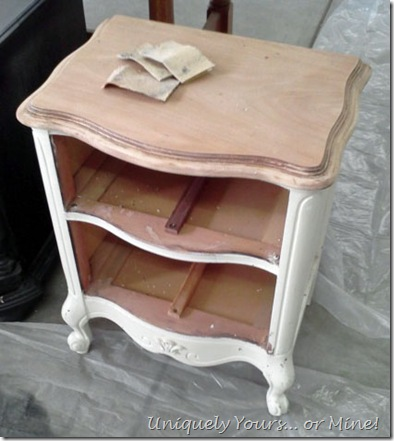 UF French Bedside Table