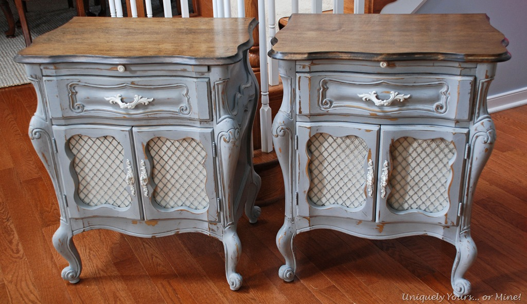 Lovely twin french bedside tables uniquely yours or mine dsc0020 watchthetrailerfo