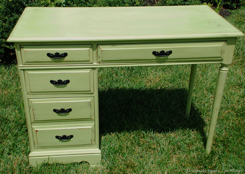 painted green desk | Uniquely Yours... or Mine!