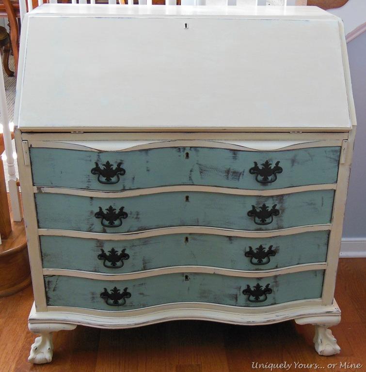 - Vintage Claw Foot Drop Front Secretary Desk – Uniquely Yours… Or Mine!