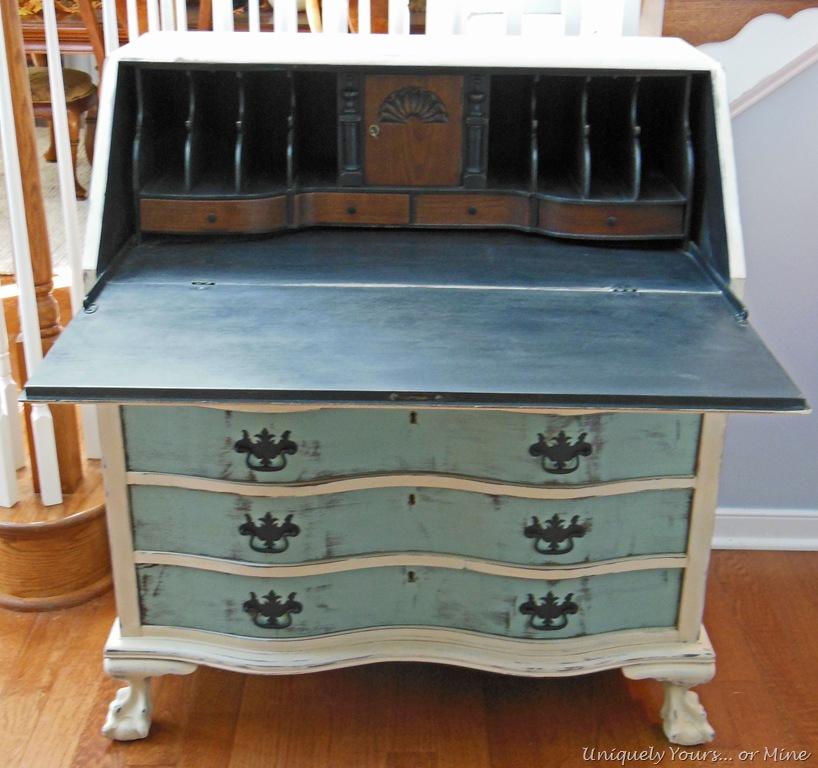 Painted Secretary Desk Uniquely Yours Or Mine