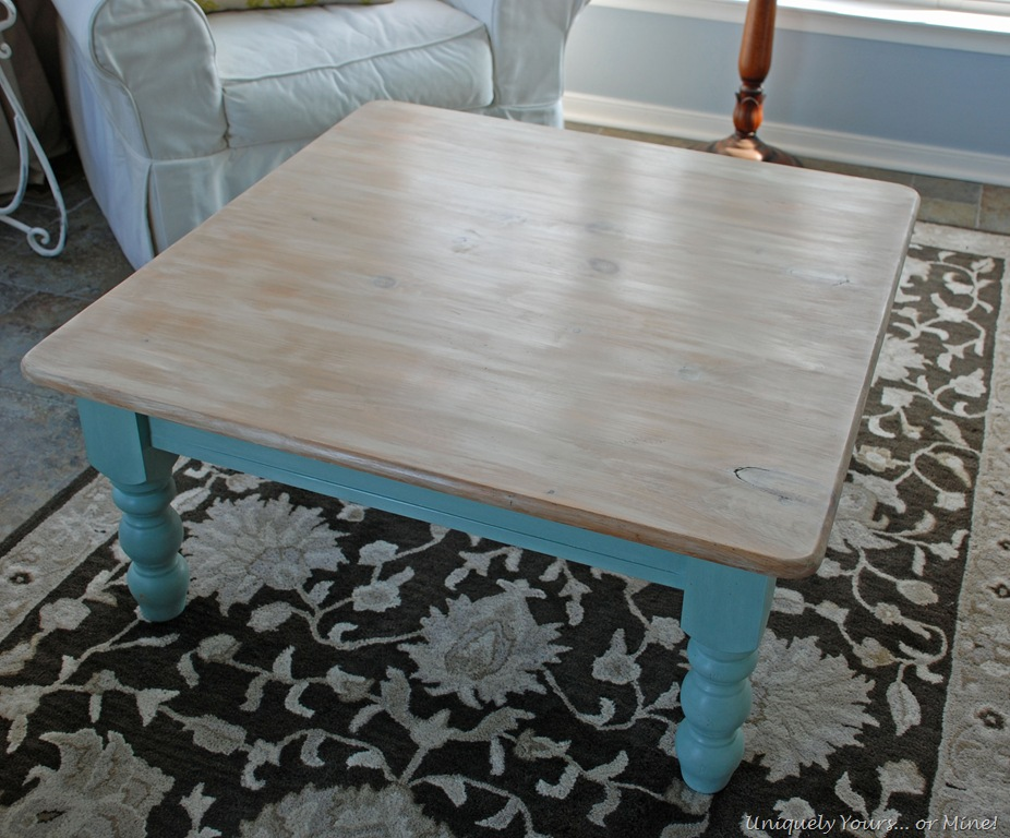 Driftwood coffee table for Revamp coffee table