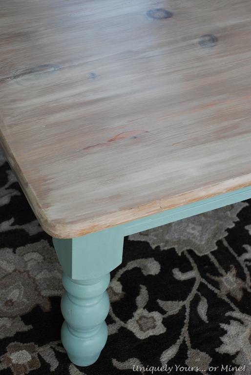 Driftwood coffee table for Whitewash kitchen table