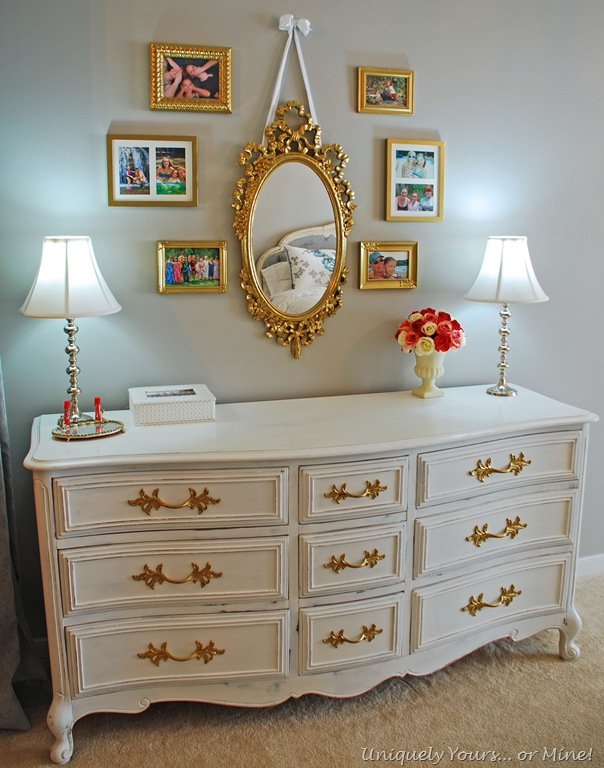 White And Gold French Dresser And Nightstand Uniquely Yours Or