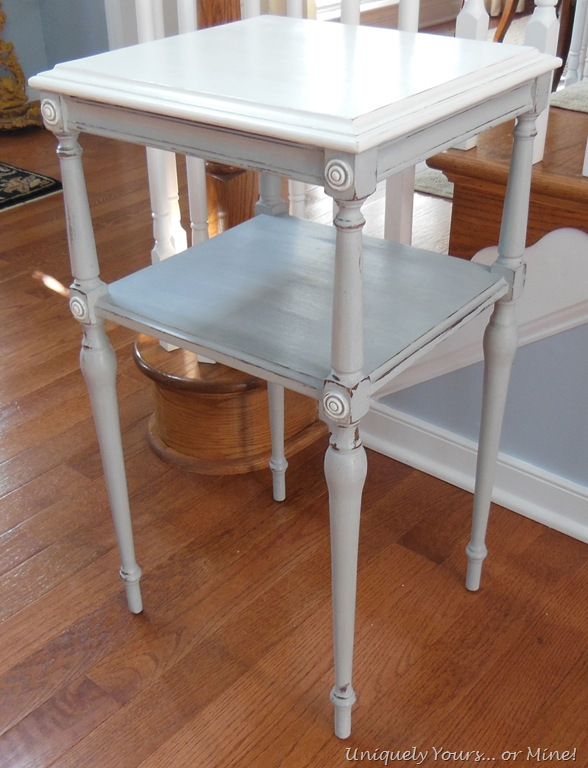 Little Table Redo And A Genius Idea Uniquely Yours Or Mine