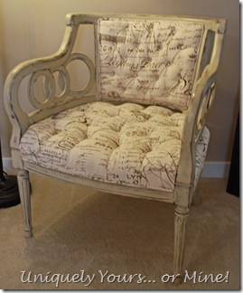 French script painted armchair