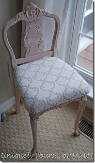 Antoinette Pink paintedvintage vanity chair