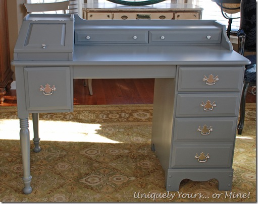 Grey painted desk