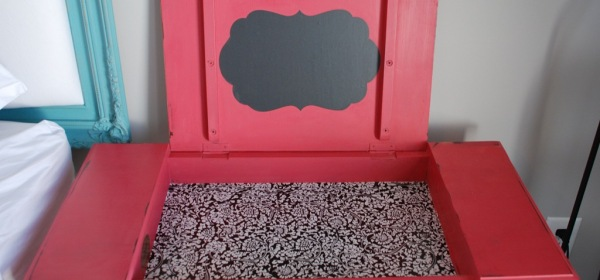 Pink writing desk custom shade ASCP