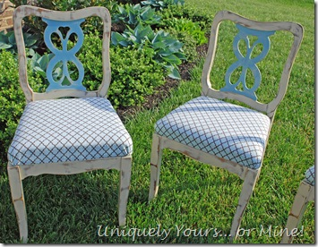 Painted vintage dining chairs