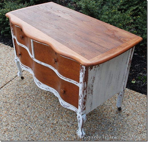 Vintage curvy claw foot chest painted white ASCP