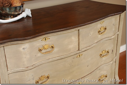 Vintage Painted Oak Chest