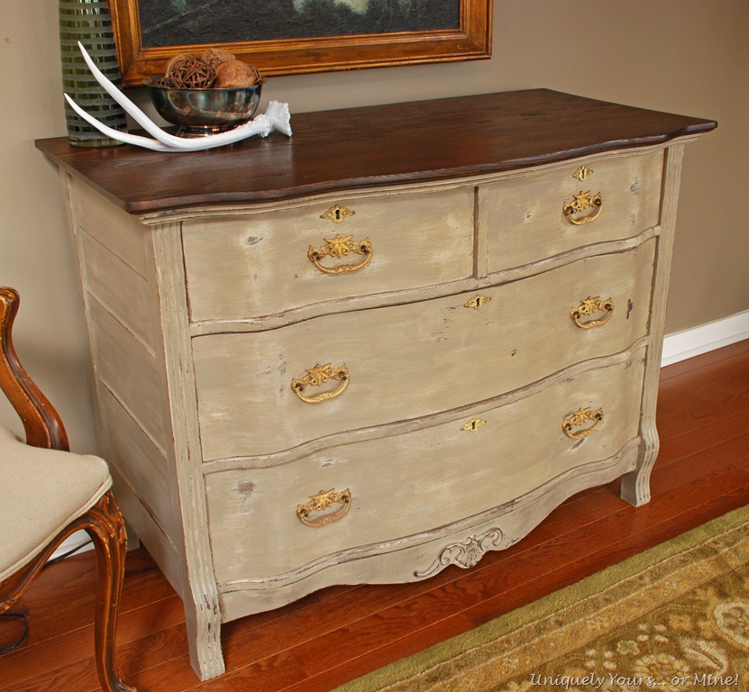 Vintage Painted Oak Chest - Refinished Oak Chest, The General Uniquely Yours... Or Mine!