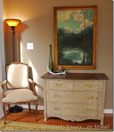 Vintage Painted Oak Chest