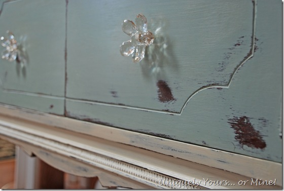 Painted buffet blue and white