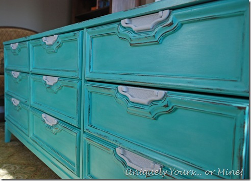 Santa Fe Turquoise painted dresser