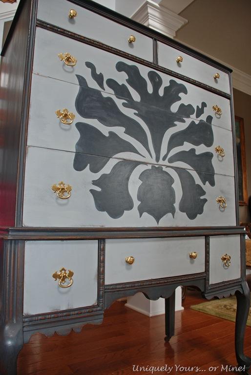 Gorgeous painted vintage oak chest