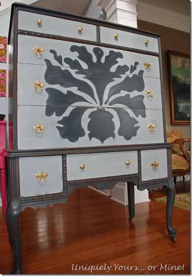 Painted Vintage Oak chest
