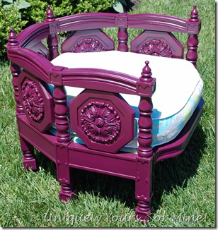 Painted Purple barrel back chair