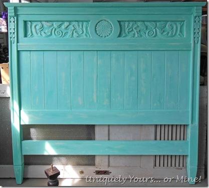 Santa Fe Turquoise painted headboard