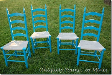 Vintage ladderback dining chairs