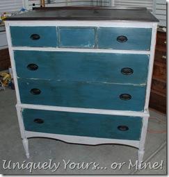 F White Dresser