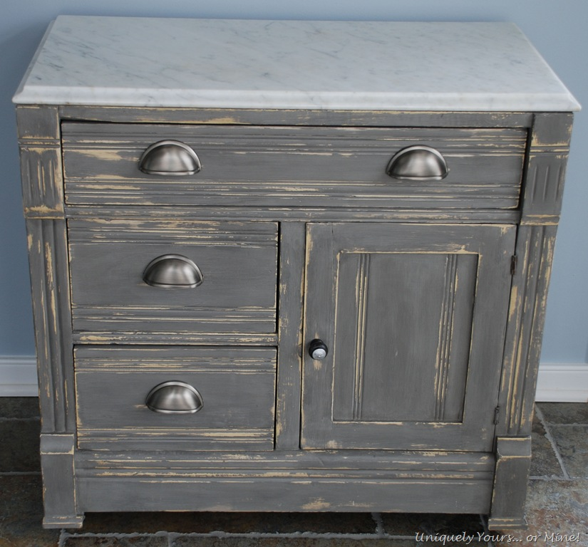 Gray painted cabinet for Distressed furniture