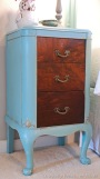 French Nightstand Painted Provence