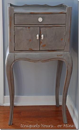 Pulaski nightstand painted Pittsburg Gray CeCe Caldwell Paint