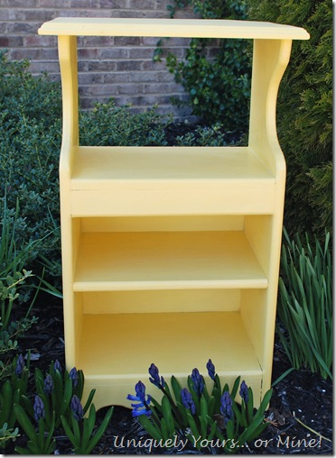 Yellow painted pine nightstand
