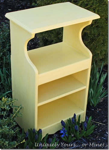 CeCe Caldwell Carolina Sun Yellow painted nightstand