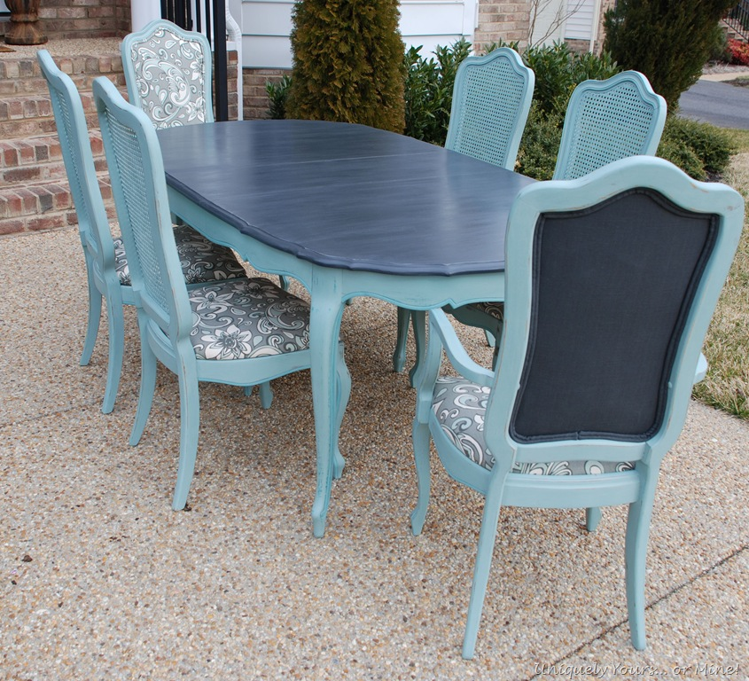 Painted dining chairs uniquely yours or mine for Painted dining tables and chairs