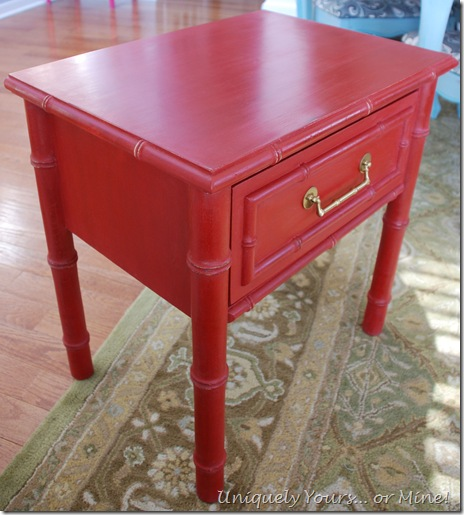 ASCP Emperor's Silk Red Painted Table