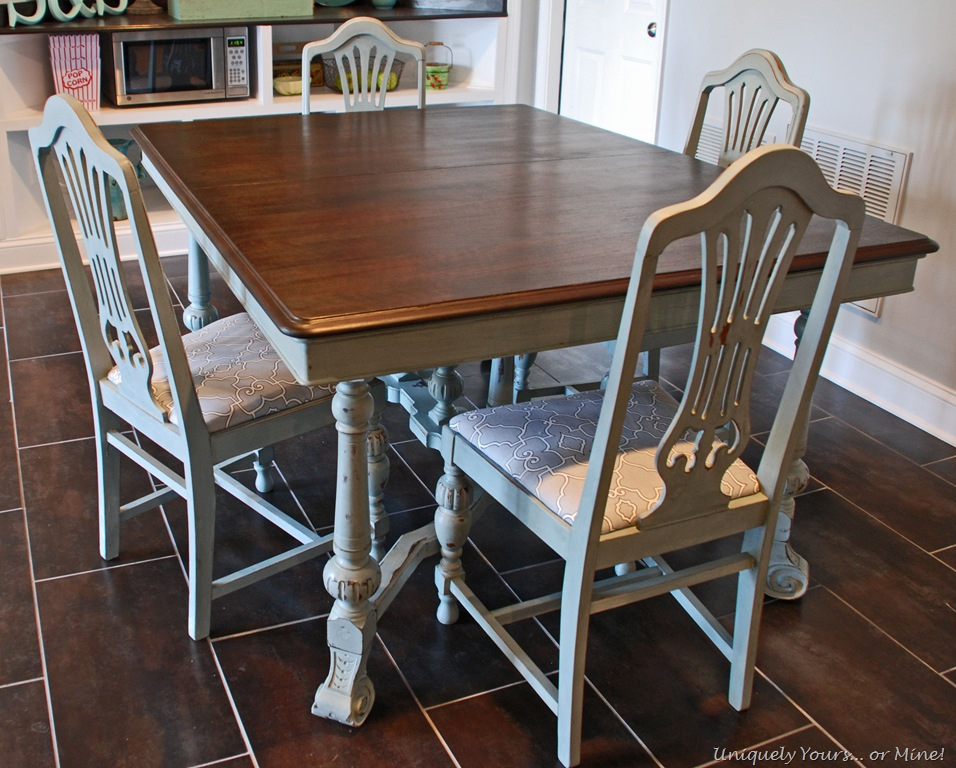 Vintage dining table refinishing tutorial uniquely yours or mine - Refinish contemporary dining room tables ...
