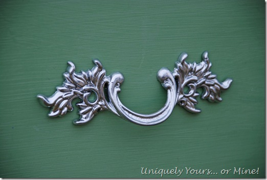 Chrome painted drawer pulls handles