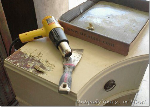 removing paint with heat gun