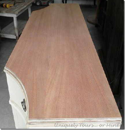 stripped buffet wood top