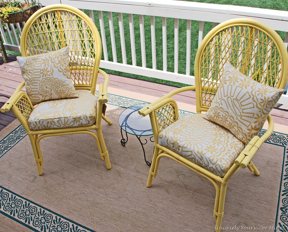 Cheery Yellow Rattan Chairs Uniquely Yours Or Mine
