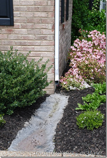 diverting rainwater using hypertufta trough