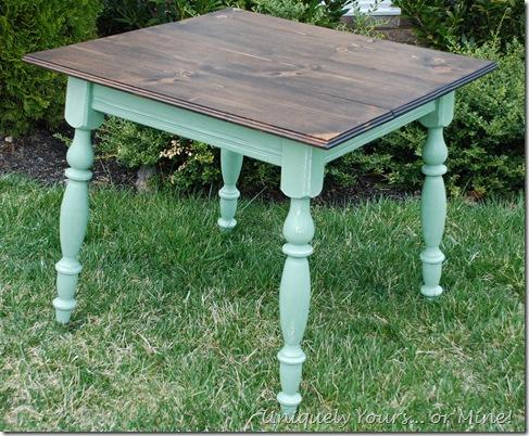 custom pine topped table