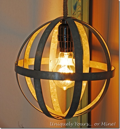 How to make a pendant light