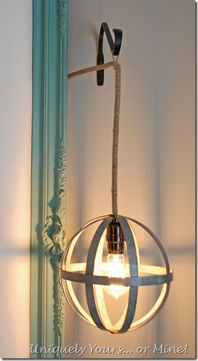 How to make a globe pendant light