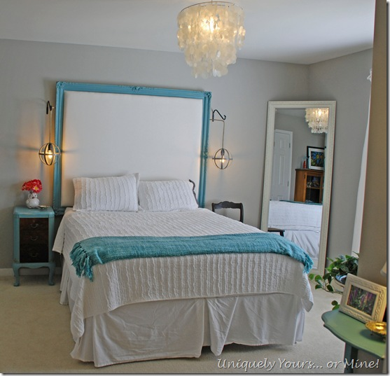 blue and gray bedroom makeover
