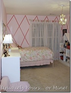 Pink girls bedroom