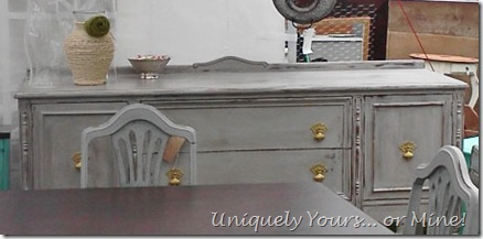 Painted vintage buffet in Pittsburg gray
